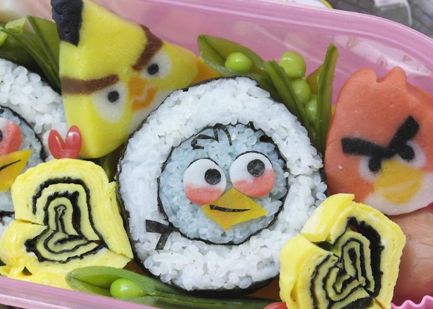 Sushi Angry Bird
